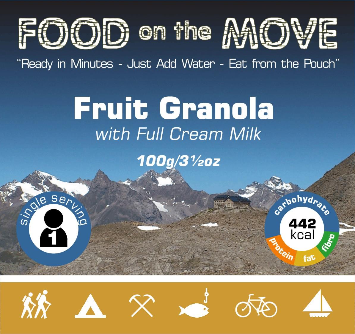 Fruit Granola Pack Front